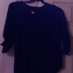 Simply Styled by Sears sheer navy blue blouse